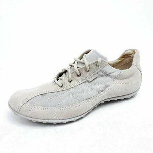 Geox Respira Womens 9 Athletic Shoes Beige Low Top